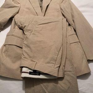 J. Crew Suits & Blazers - J Crew seersucker tan vest, size medium M